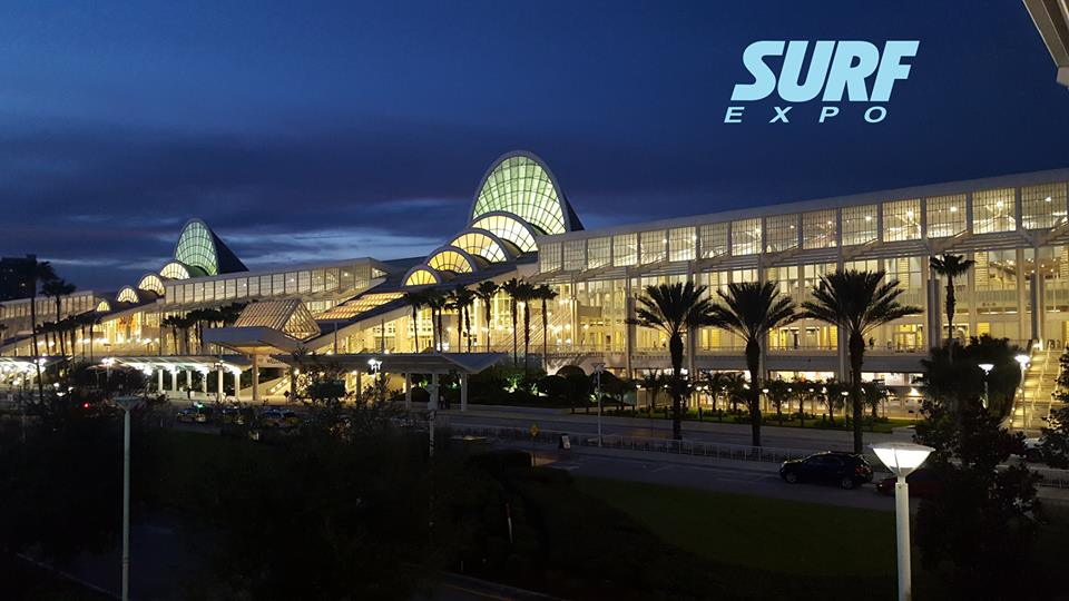 Surf Expo at night
