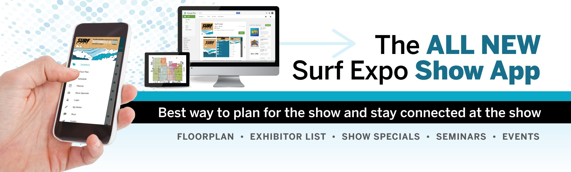 Get the NEW Surf Expo Show App